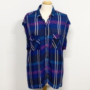 Rails Britt Plaid Short Sleeve Flannel Button Down